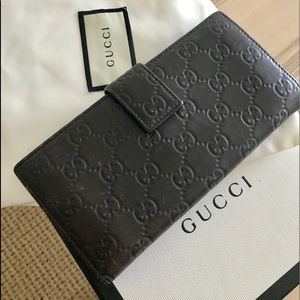 🖤 💯authentic Classic Gucci calfskin wallet